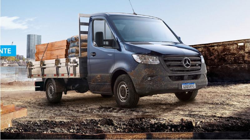 """Mercedes divulga novo nome para caminhões para""""Sprinter Truck"""""""